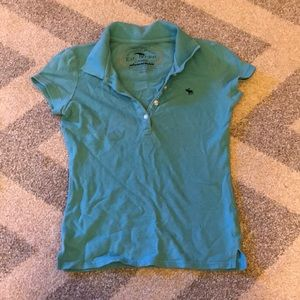 Kids Abercrombie Blue Polo Shirt